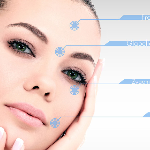 botox training face map